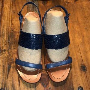 Tory Burch snake skin block heel sandal